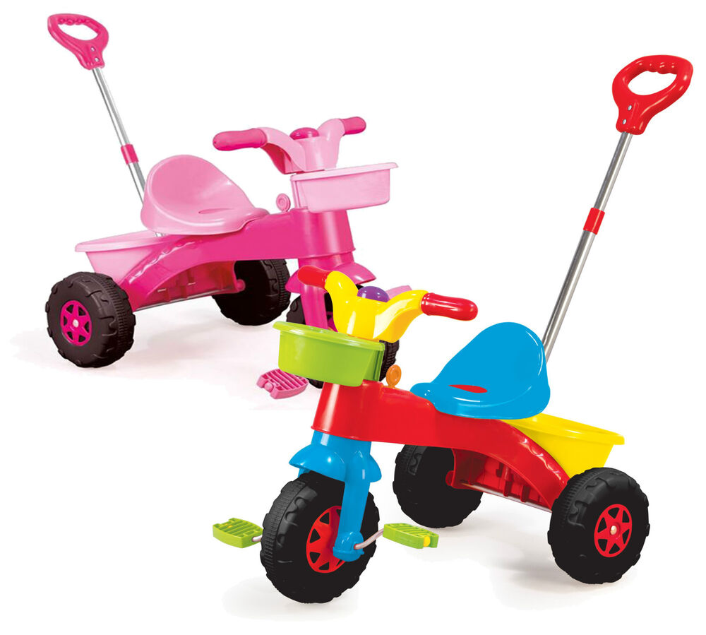 Kids My First Trike Boys Girls Ride On Bike Parent Handle