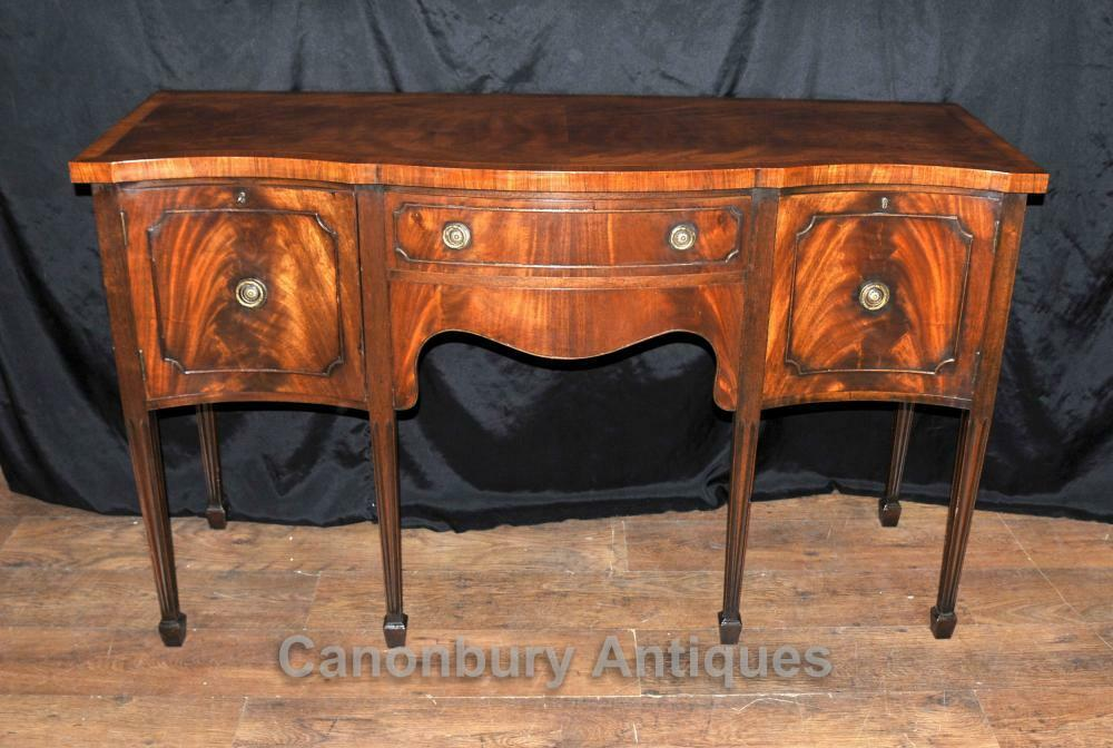 antique sheraton sideboard server buffet flame mahogany 1920s ebay. Black Bedroom Furniture Sets. Home Design Ideas