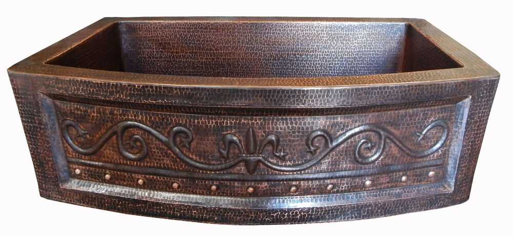 02 Rounded Apron Front Farmhouse Kitchen Mexican Copper