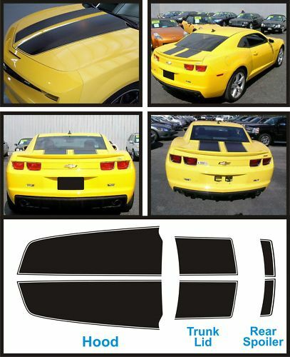 2010 2011 2012 Camaro Complete Rally Stripe Kit