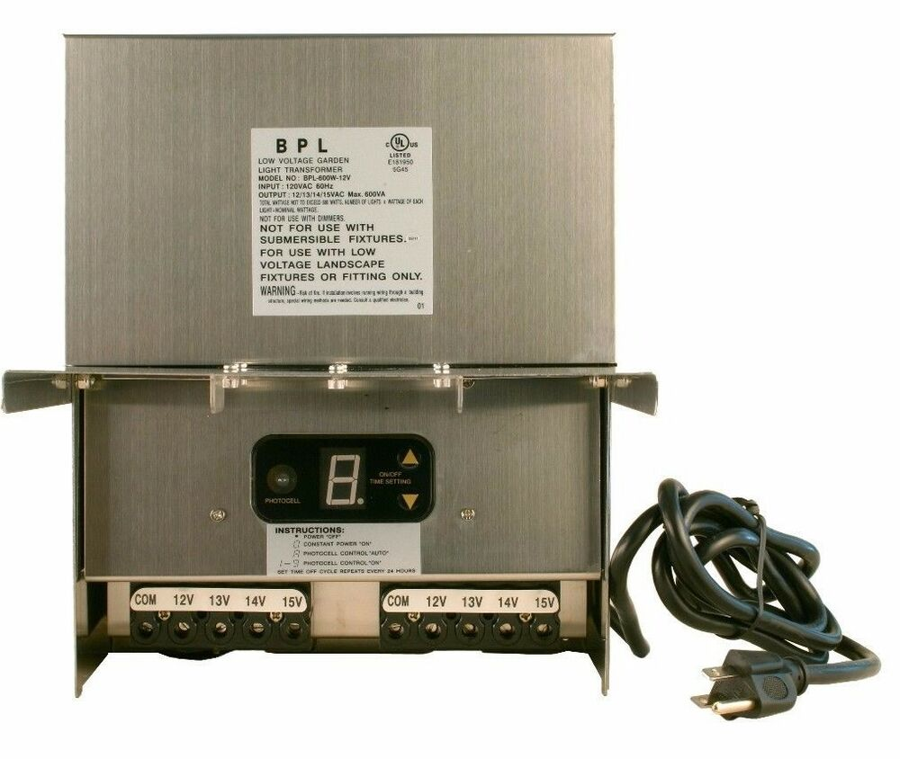 Hampton Bay Low Voltage Landscape Lighting Transformer: 600 WATT 12V LOW VOLTAGE LANDSCAPE LIGHTING TRANSFORMER