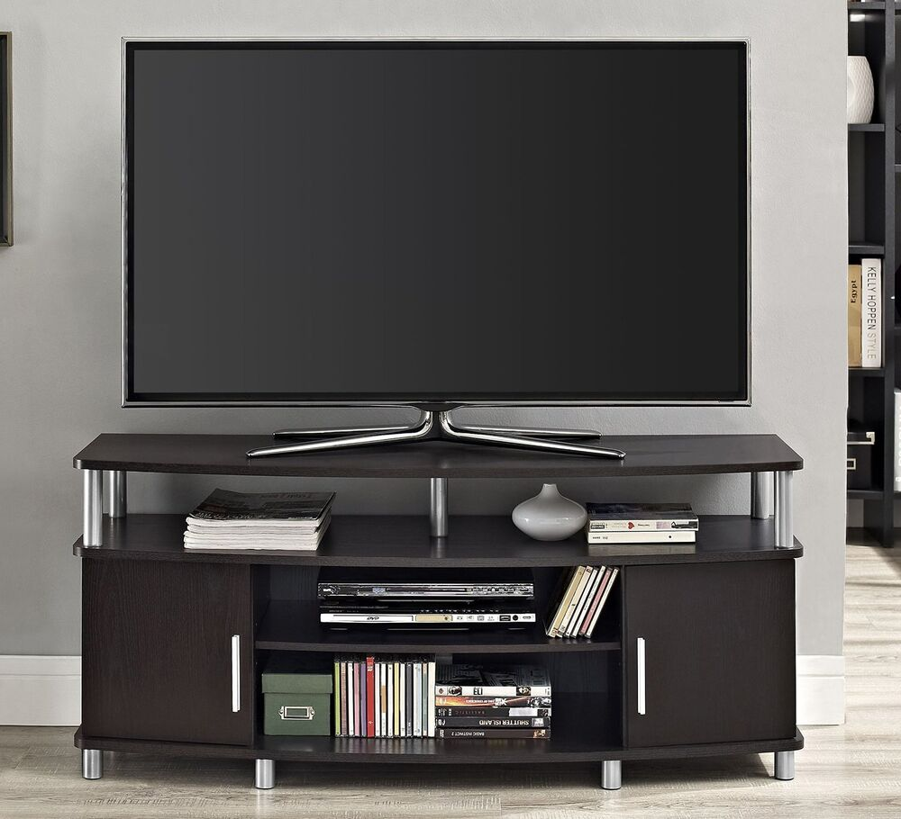 Flat Screen Tv Console Espresso Brown Tv Stand Fits 50 Inch Tv Entertainment Console