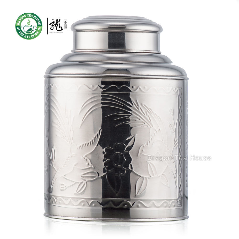 Extra Large Stainless Steel Canister Tea Caddy Container
