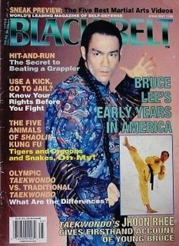RARE 5/96 BLACK BELT MAGAZINE JHOON RHEE BRUCE LEE KARATE ...