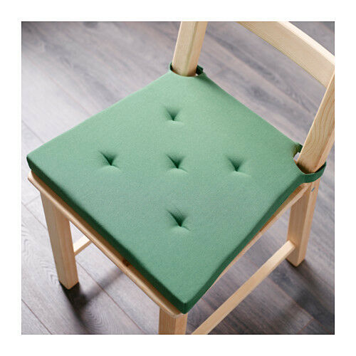 Ikea justina chair pad green indoor outdoor patio office for Cuscini ikea per sedie