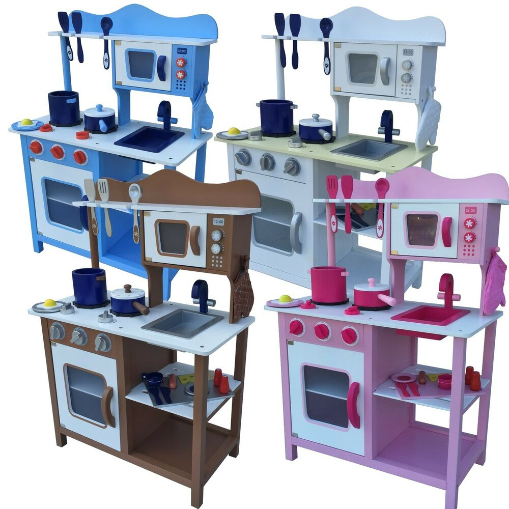 kinderk che aus holz kinderspielk che spielk che spielzeug k che topfset neu ebay. Black Bedroom Furniture Sets. Home Design Ideas