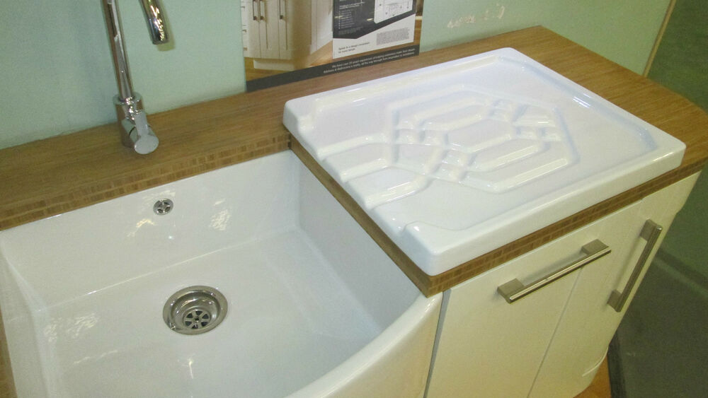 BELFAST SINK /BUTLER WHITE CERAMIC KITCHEN DRAINER RRP ?300 eBay