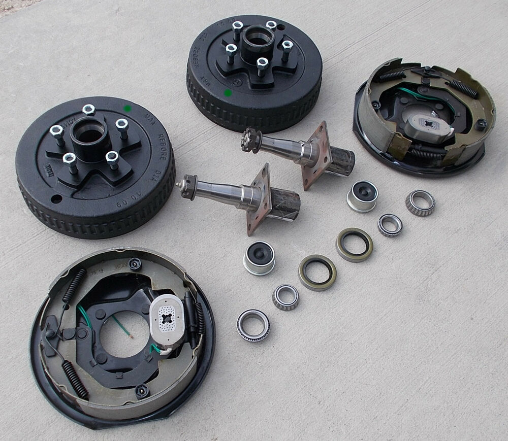 Build Your Own 3500 Electric Brake Trailer Axle Kit w/EZ Lube Spinde 5x4.75 Drum | eBay