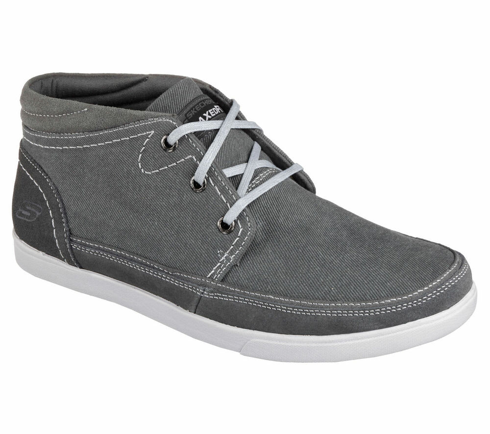 Charcoal Black Mid Top Casual Black Shoes