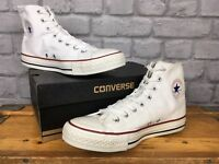 CONVERSE UNISEX CLASSIC WHITE CHUCK TAYLOR CONVERSE ALL STAR HI TOP TRAINERS