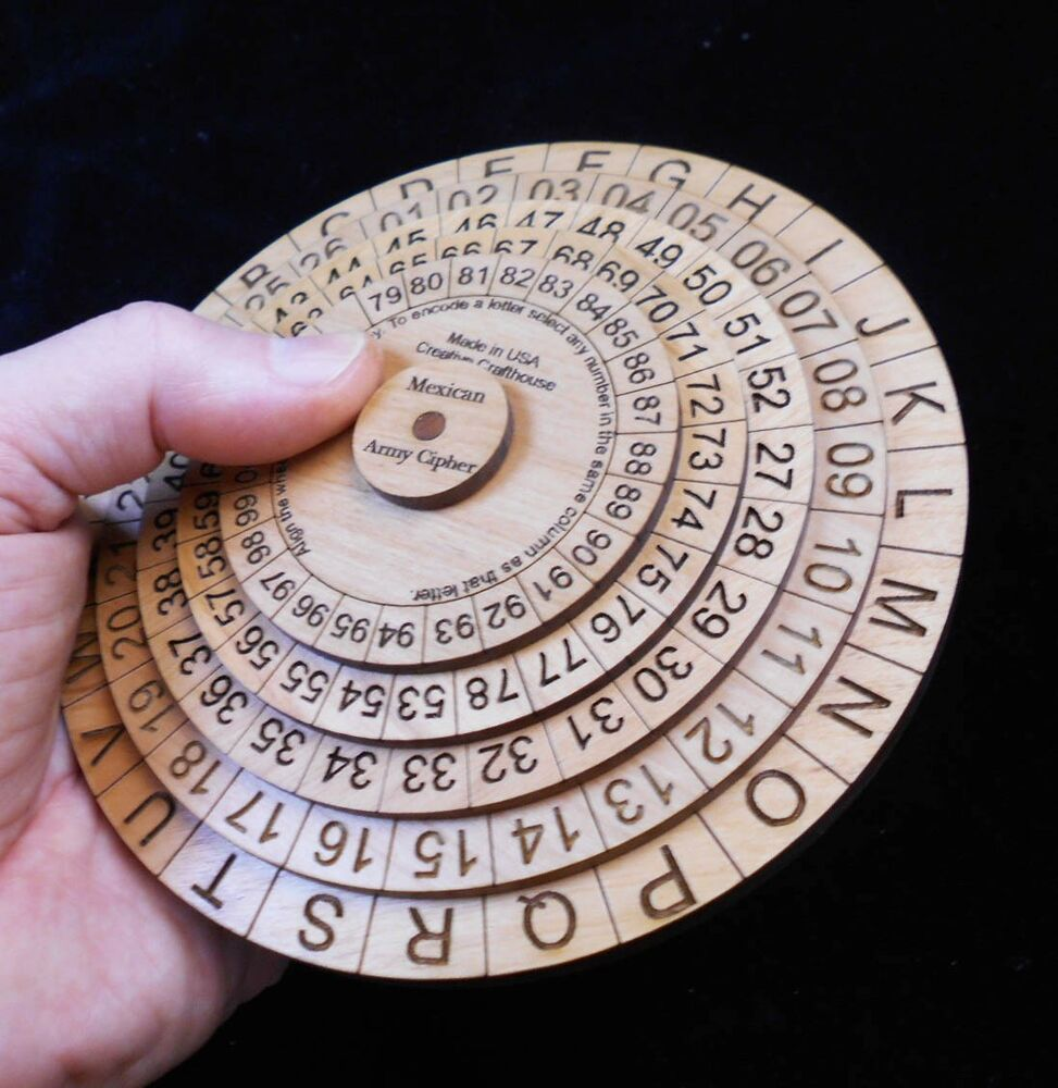 Mexican Army Cipher Disk Historical Powerful Useful