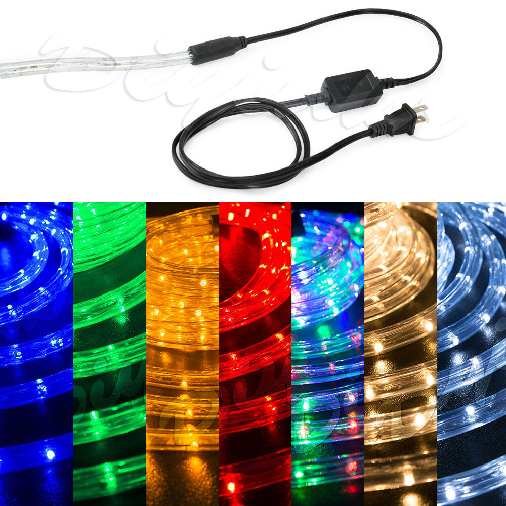 "Led String Lights Reject Shop: LED Rope Light 1/2"" Thick PRE-ASSEMBLED Christmas Lighting"