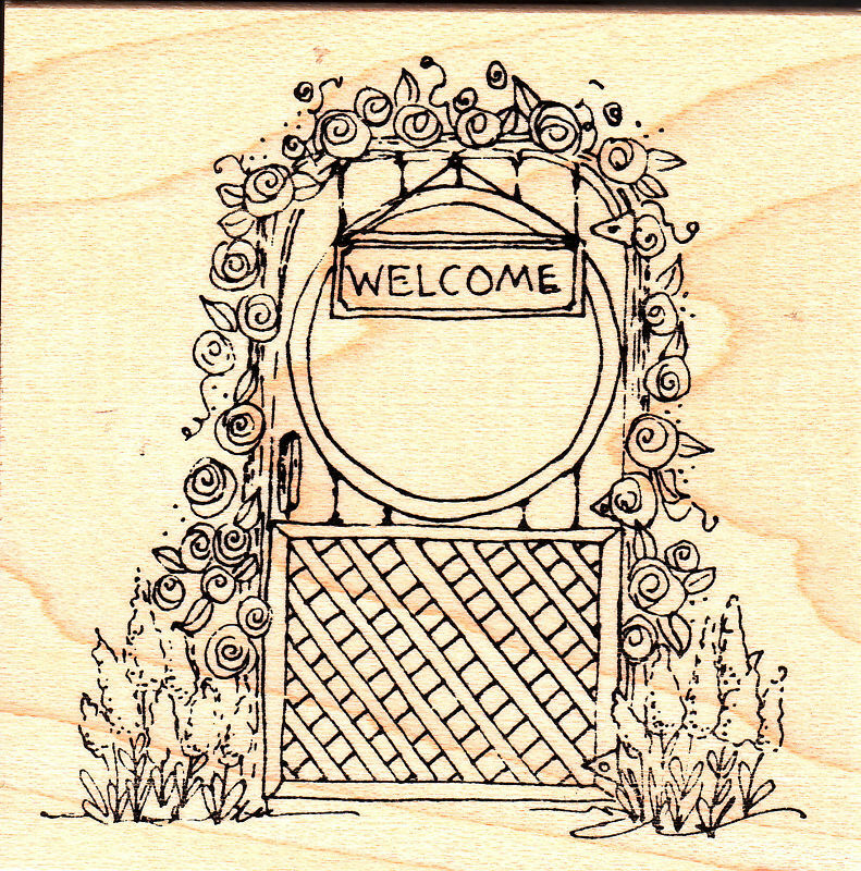 Lockhart Rubber Stamp Company Welcome Gate Ebay