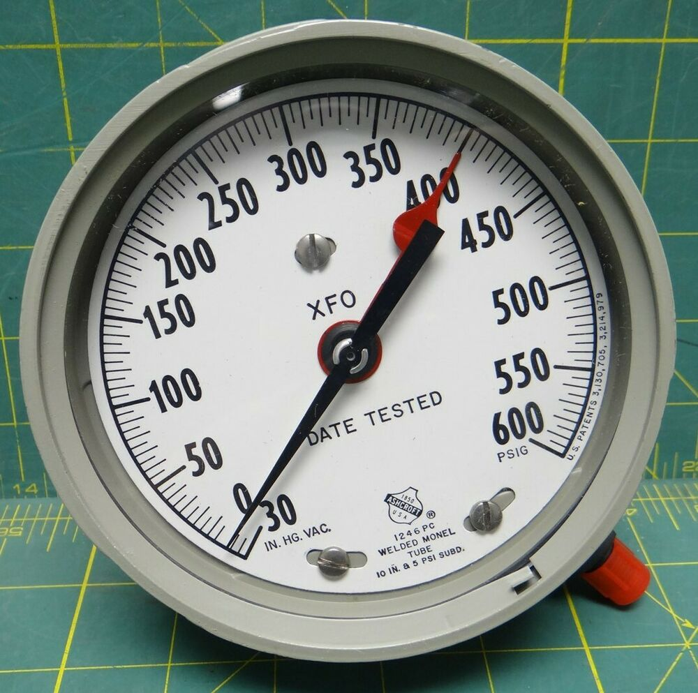 Ashcroft Compound Gauges : Quot ashcroft vacuum pressure gauge  psi with