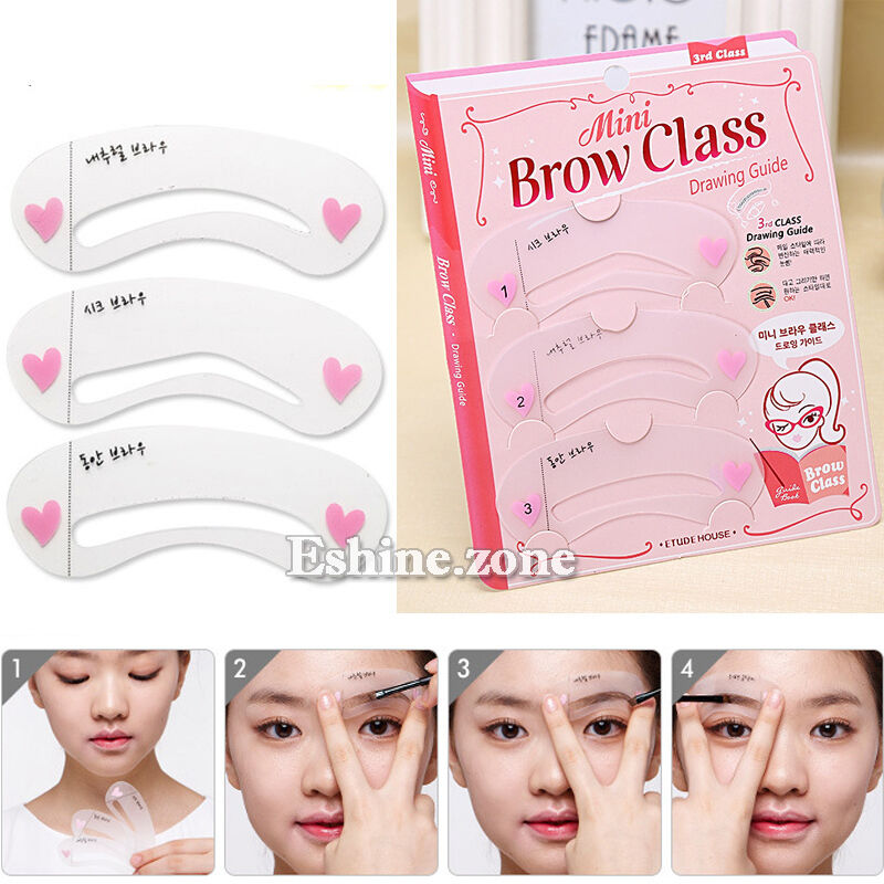 3style Mini Eye Brow Class Guide Grooming Shaping Assistant Eyebrow
