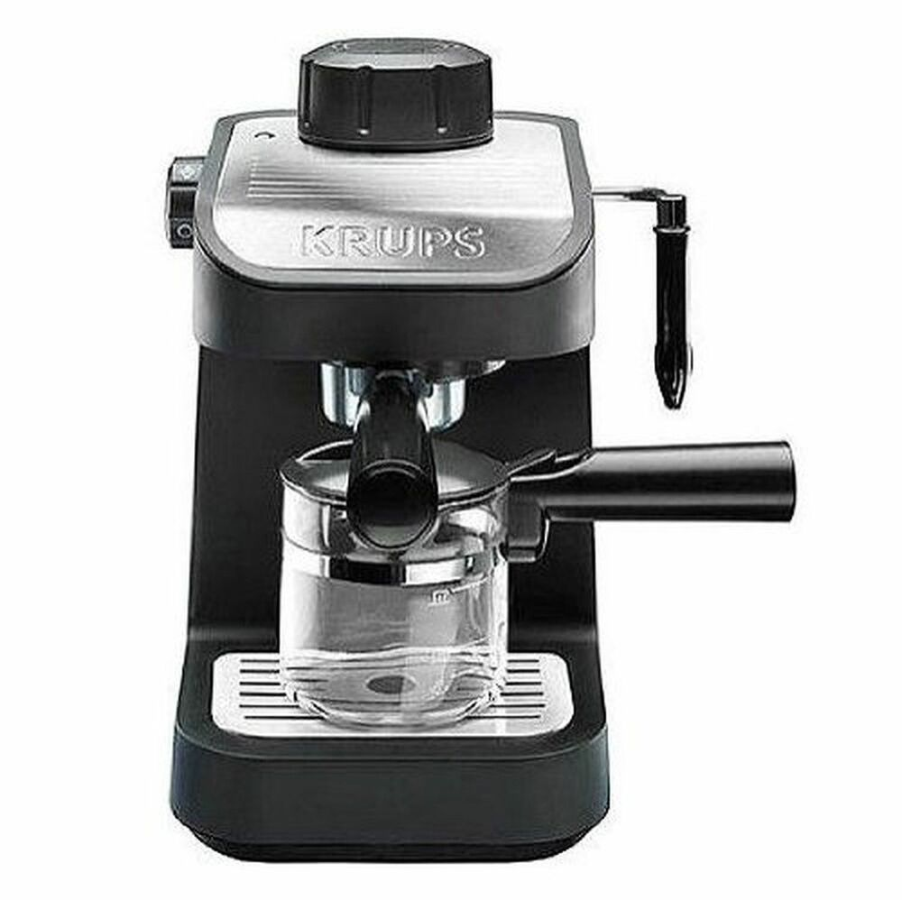 krups xp1020 steam espresso machine w glass carage 4 cup. Black Bedroom Furniture Sets. Home Design Ideas