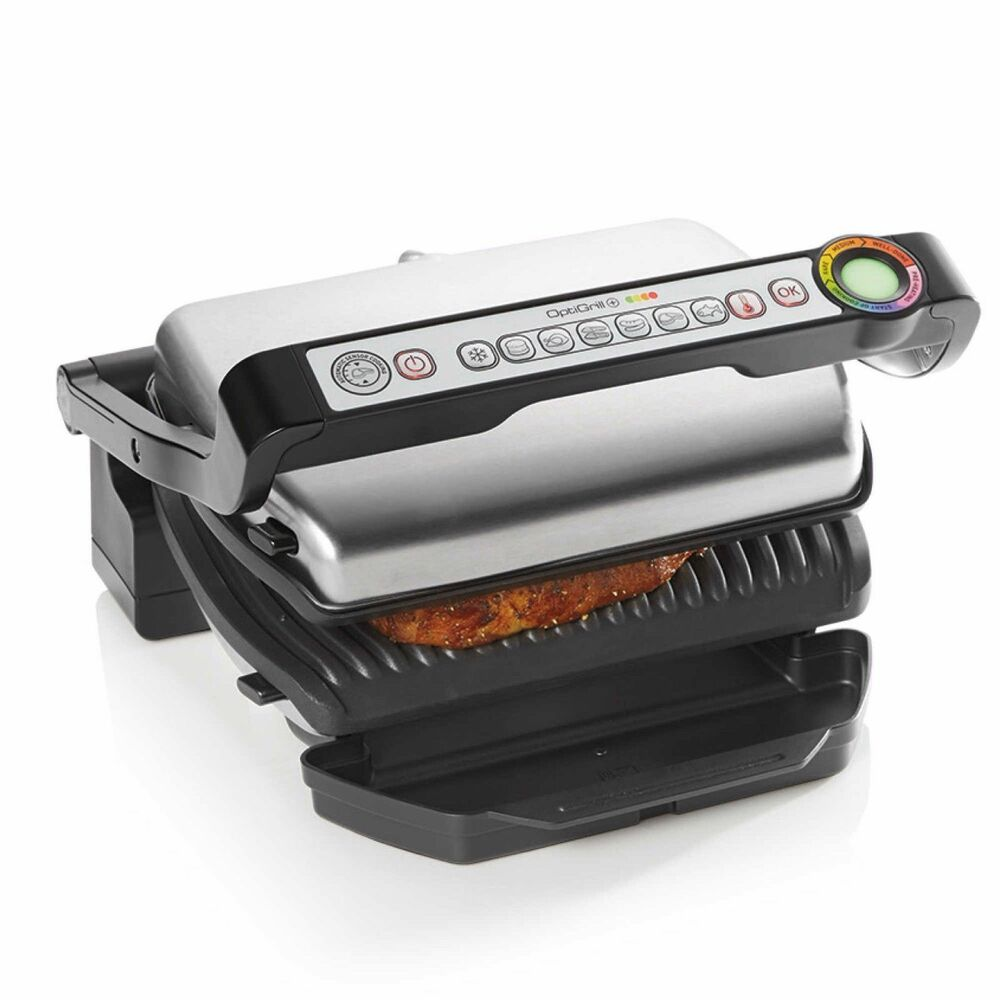 Indoor Electric Grill ~ T fal gc optigrill plus stainless steel indoor