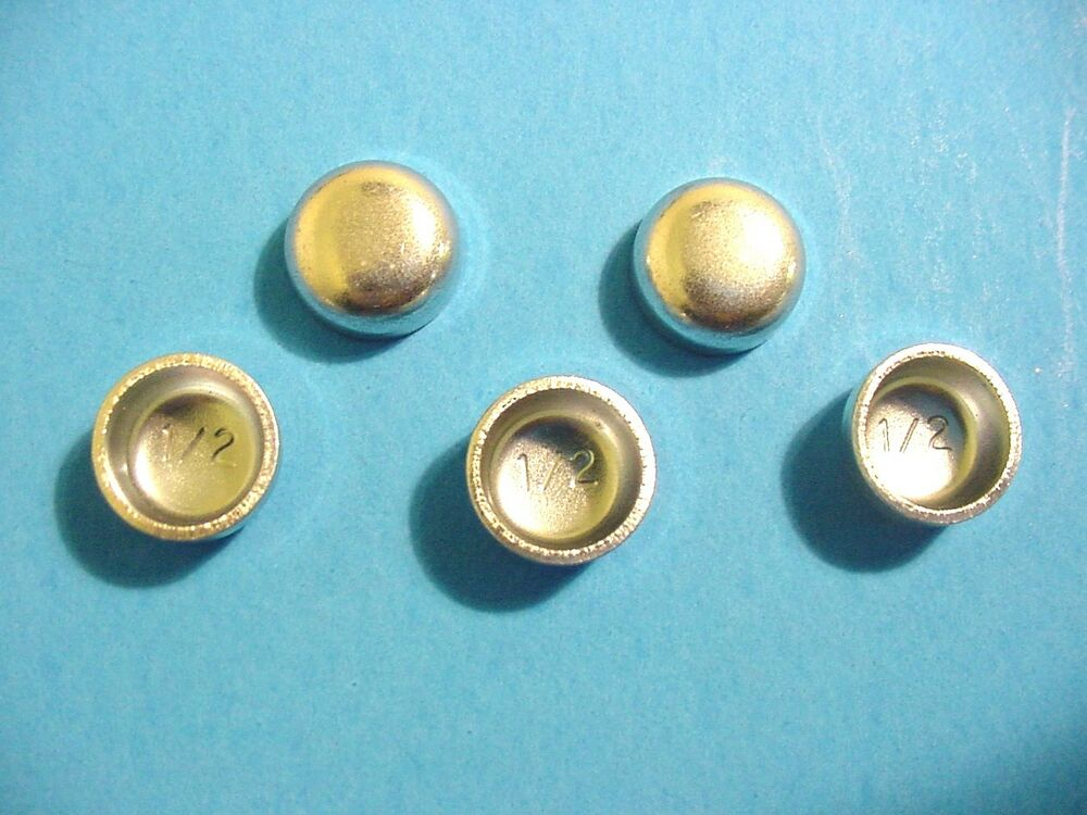"""Fits Ford 5pk 1/2"""" Freeze Expansion Plugs Zinc Plated Steel Engine Cylinder NOS 