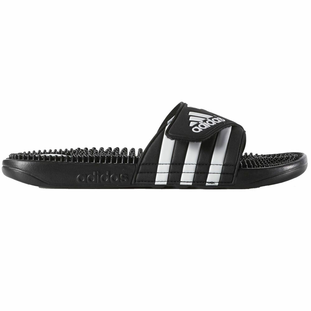 Adidas Adissage Black White Mens Sandals Ebay