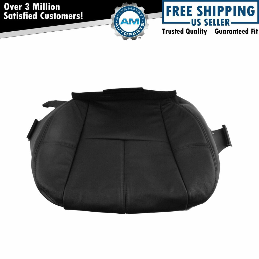 Oem Front Seat Cover Lh Driver Side Lower Ebony Leather