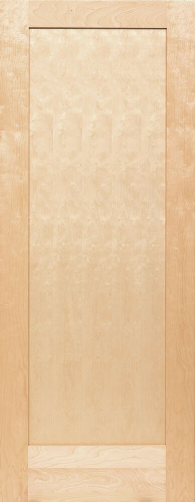 Birch 1 panel flat mission shaker stain grade solid core for Solid core flush panel interior doors
