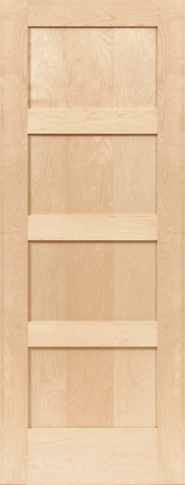 Birch 4 Panel Equal Flat Mission Shaker Stain Grade Solid