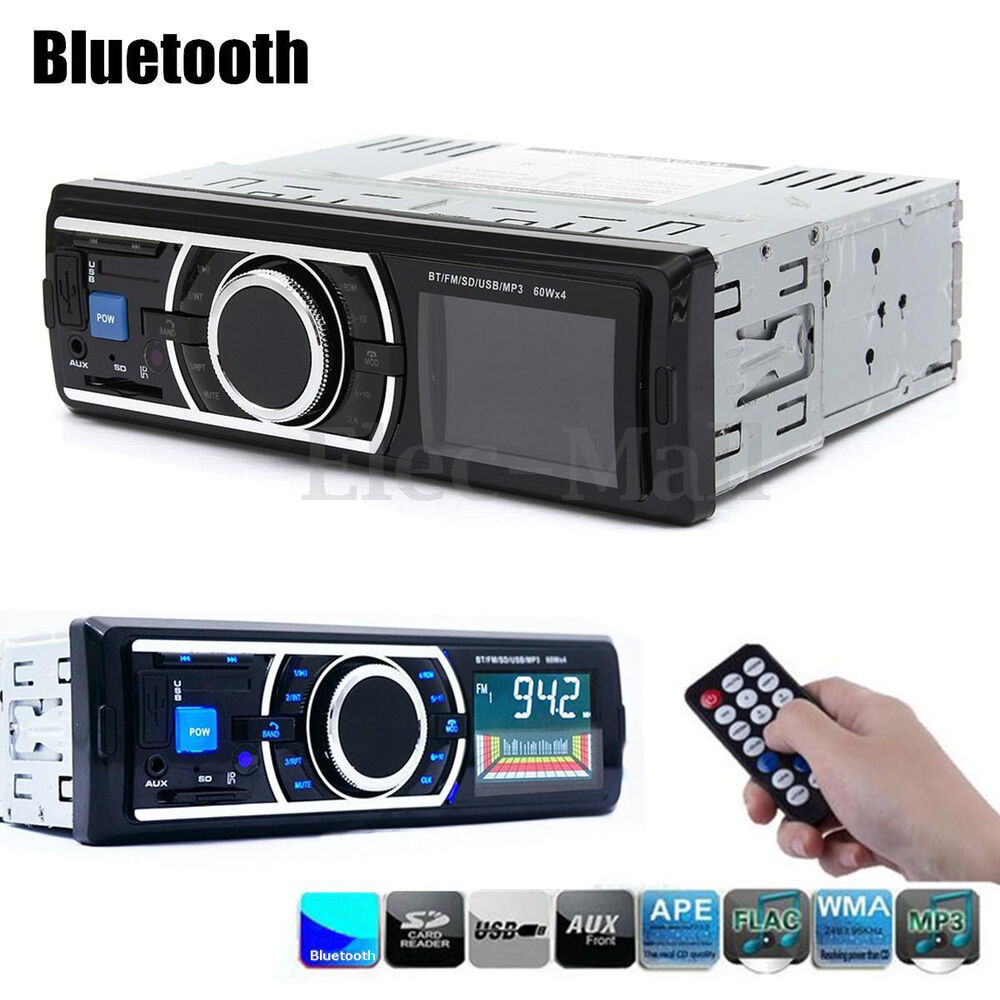 Bluetooth Car In-Dash Stereo FM Radio Audio Receiver MP3