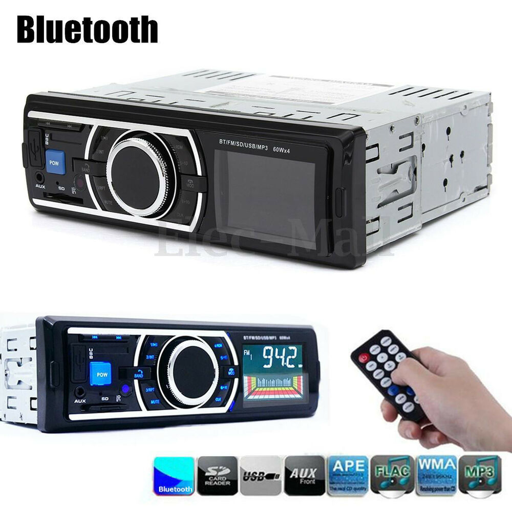 bluetooth car in dash stereo fm radio audio receiver mp3. Black Bedroom Furniture Sets. Home Design Ideas