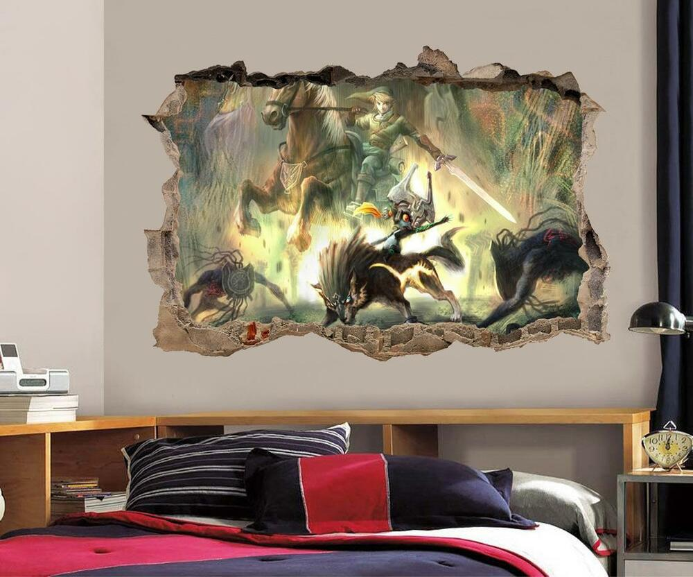 LINK Legend Of Zelda Smashed Wall Decal Graphic Wall