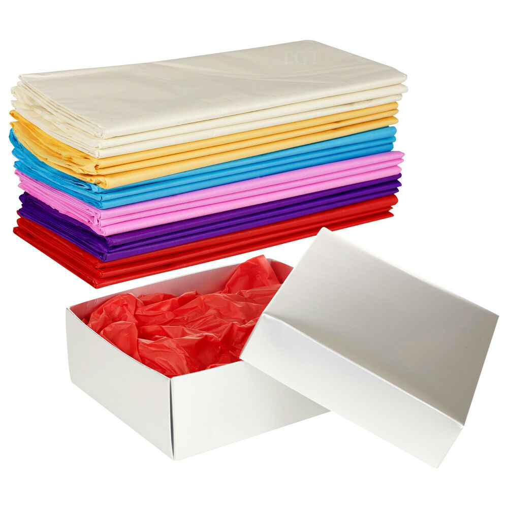 Tissue Paper 50x70cm Coloured Gift Wrap Sheets Wrapping