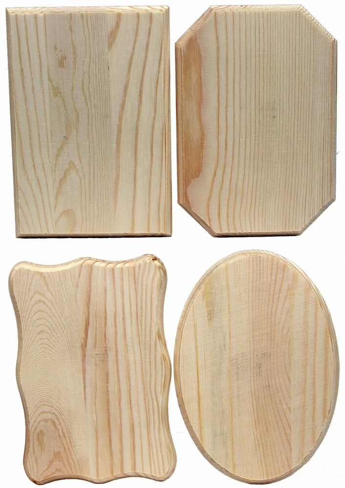 Creative Hobbies 174 Unfinished Wood Plaques 6 5 In X 4 5
