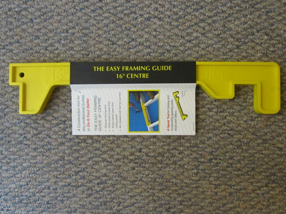 The Easy Framing Guide 16 Quot Center Stud Rafter Joist
