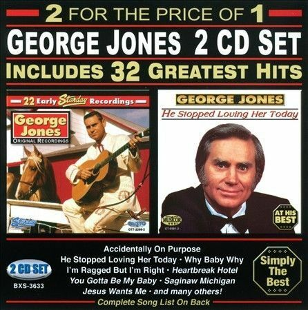 32 greatest hits by george jones cd jul 2013 2 discs gusto records