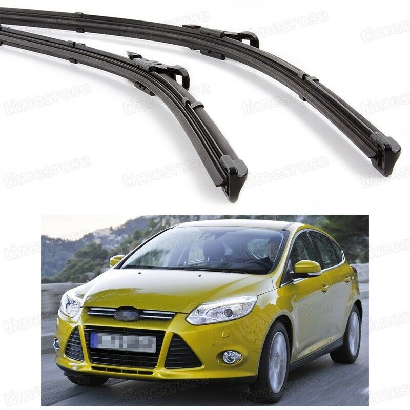 2pcs car front windshield wiper blade bracketless for ford focus 2011 2016 ebay. Black Bedroom Furniture Sets. Home Design Ideas