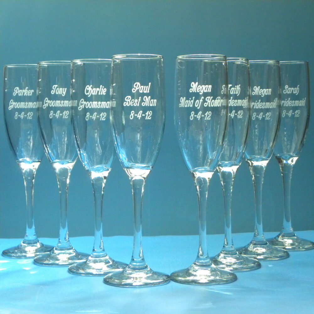 Wedding Gift Champagne Flutes: Wedding Champagne Flute Glassware Personalized Engraved