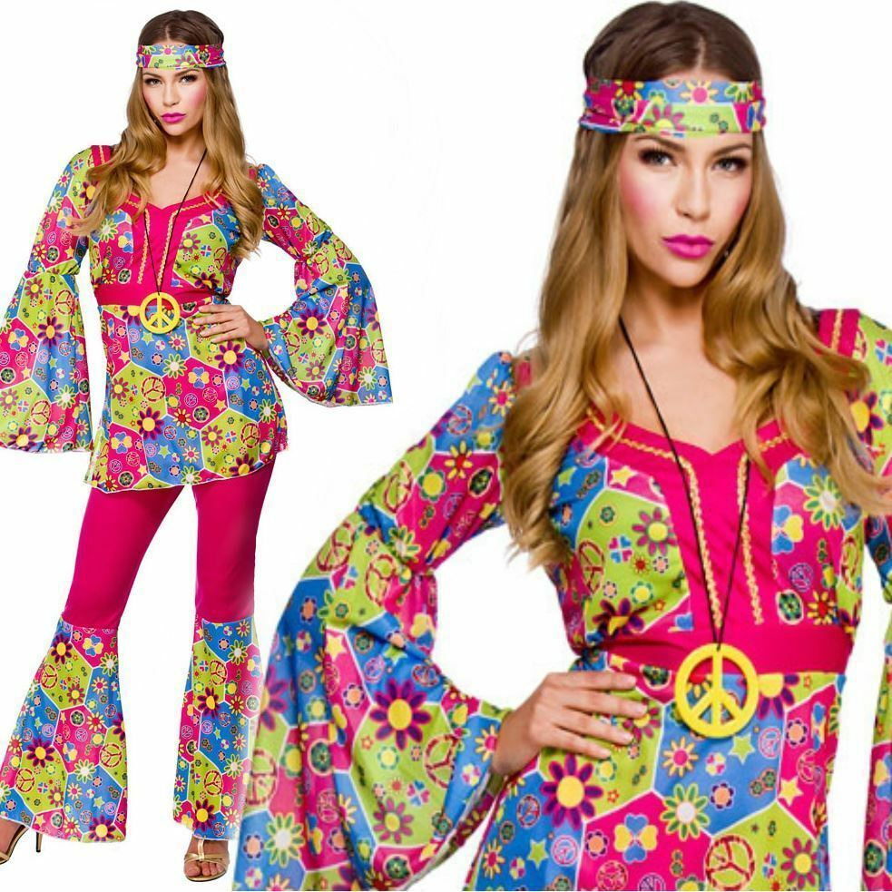 Ladies Hippie Feeling Groovy 60's 70's Womens Hippy Fancy ...