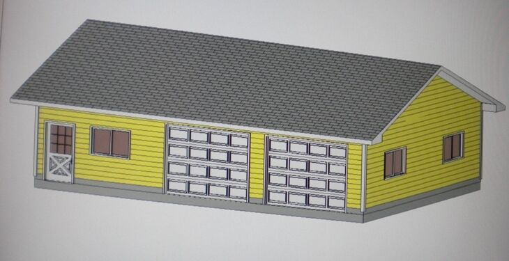 24 39 x 36 39 garage shop plans materials list blueprints for Material list for garage