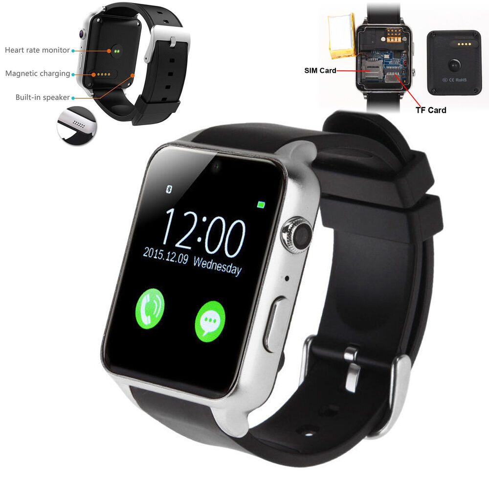 Heart Rate Monitor Bluetooth Smart Watch Phone For Android ...
