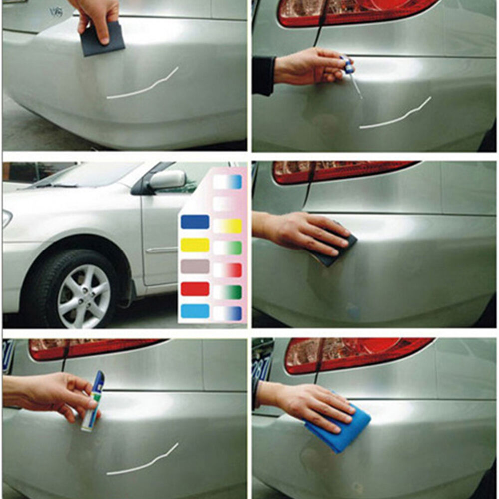 new car scratch repair remover smart coat paint touch up pen 10 colors 12ml ebay. Black Bedroom Furniture Sets. Home Design Ideas