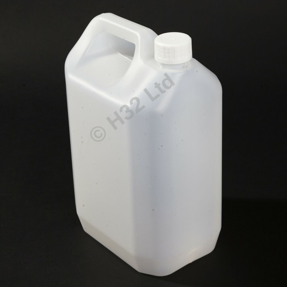 New 8 X 5l Litre 1 Gallon Plastic Jerry Can Water