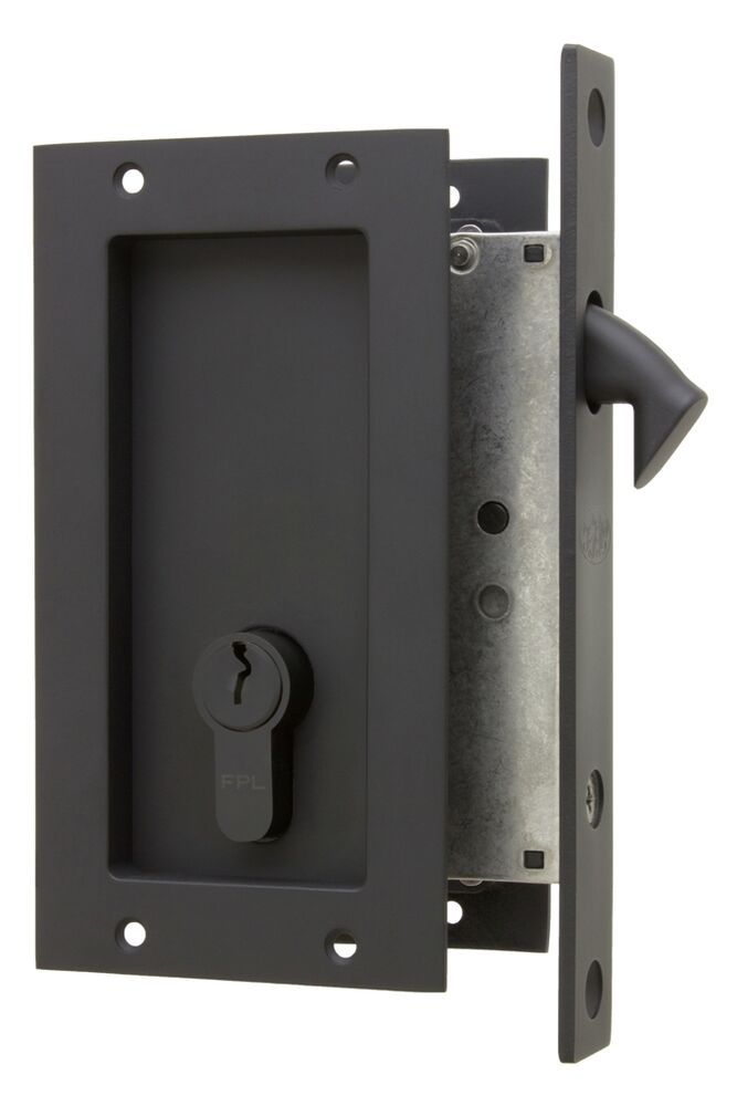 Hardware For Double Converging Pocket Doors : Anacapa by fpl solid brass modern pocket door mortise lock