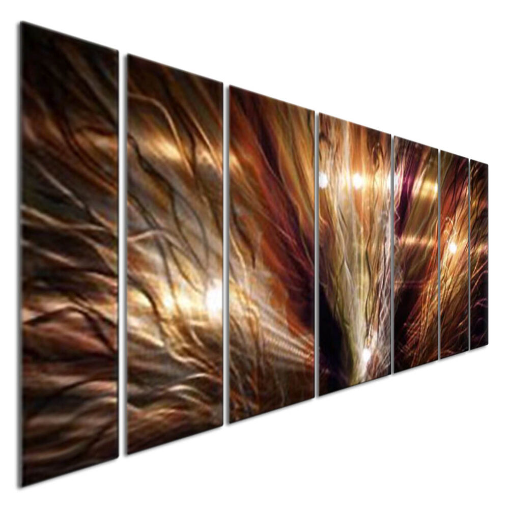 Abstract Metal Wall Art Large Zion By Artist Ash Carl Modern Home Decor Ebay