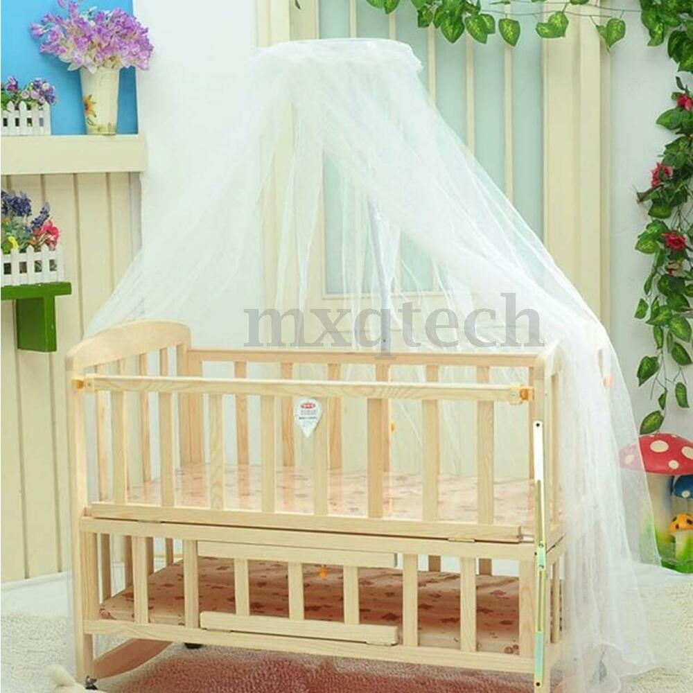 Baby Canopy For Crib: Round Dome Baby Bed Mosquito Mesh Curtain Net For Toddler