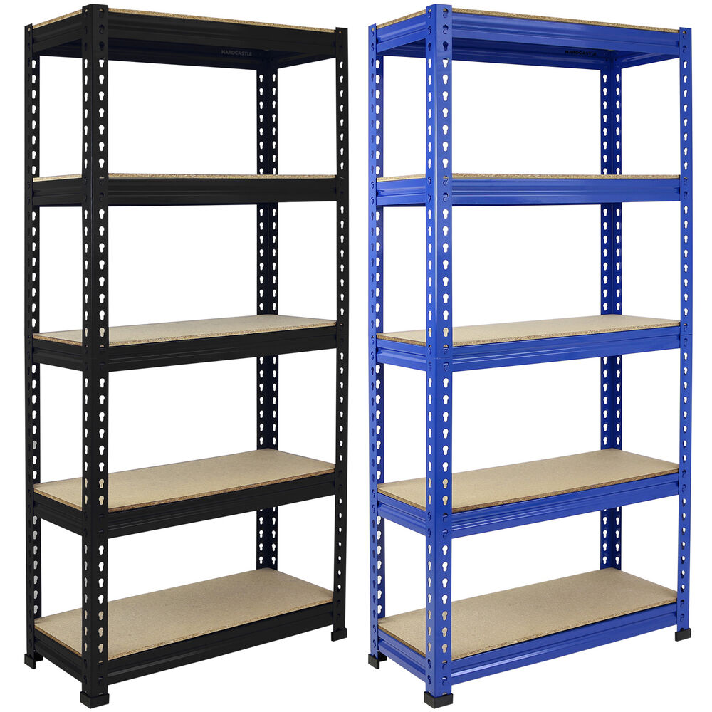 1 5m 5 tier heavy duty metal shelving garage shed storage. Black Bedroom Furniture Sets. Home Design Ideas
