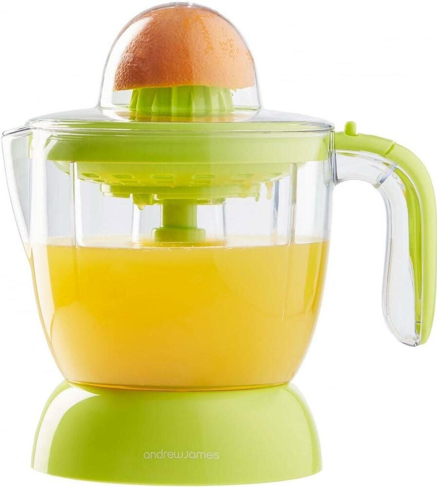 Small Electric Juicer ~ Andrew james compact electric citrus juicer fruit press