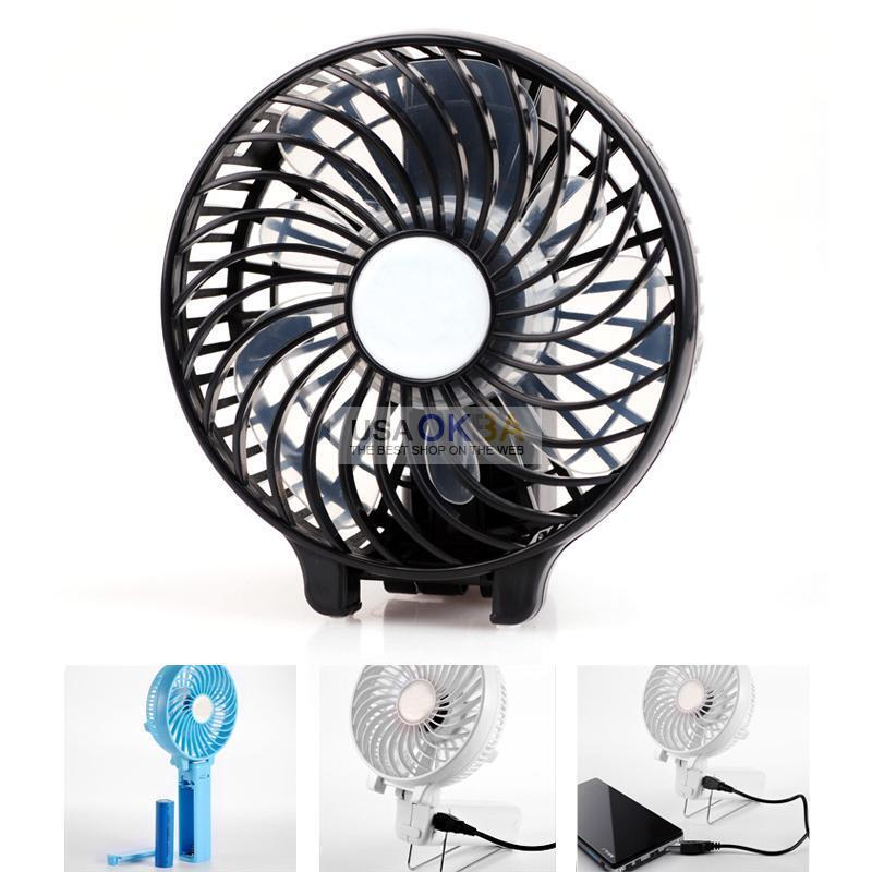Small Air Fans : Handheld mini small fan cooling portable usb air
