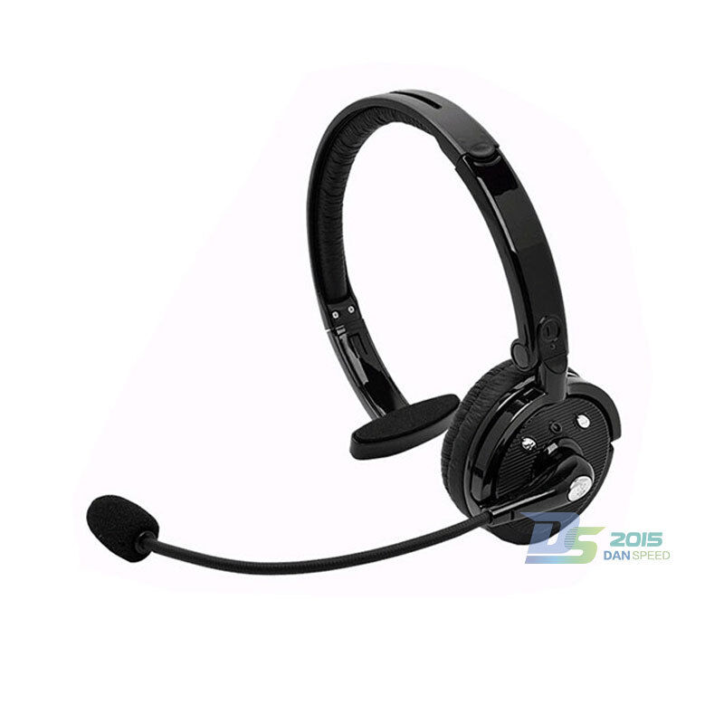 wireless bluetooth headphone headset earphone with mic for truck driver ps3 pc ebay. Black Bedroom Furniture Sets. Home Design Ideas