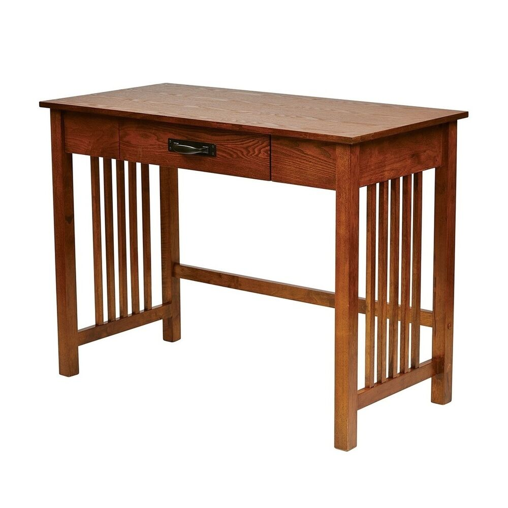 Oak Wood Mission Style Desk Furniture Table Computer