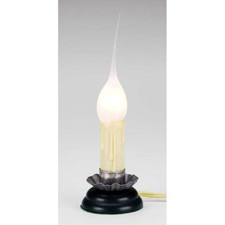 Small Electric Country Candle Lamp Silicone Bulb W On