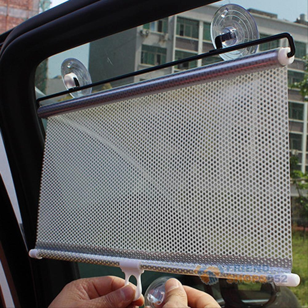 retractable car auto sun shade block windshield rear window mesh curtain visors ebay. Black Bedroom Furniture Sets. Home Design Ideas